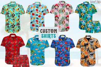 Custom Hawaiian Shirts with Your Logo Surf Club, Rugby, Cricket, Bar, Uniform
