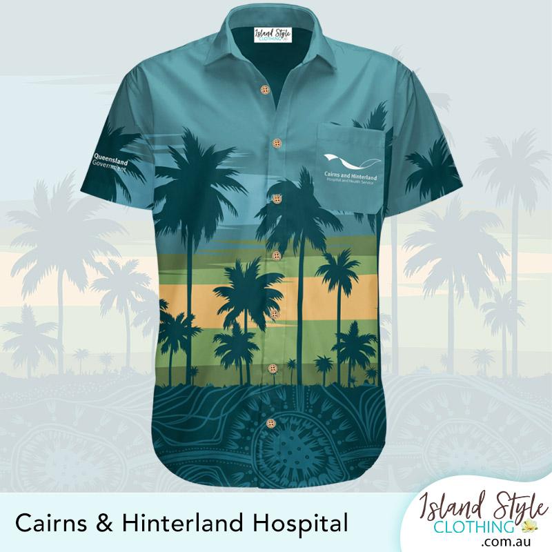 Cairns Hospital and Health Services Custom Hawaiian shirt uniforms